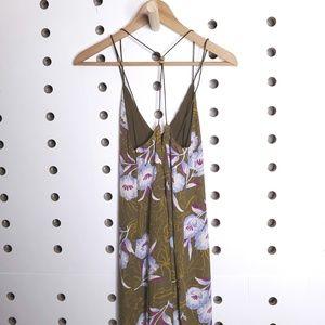 silence + noise Dresses - Silence + Noise Floral Gemini Crepe Midi Dress